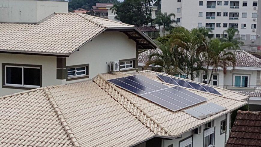 Maior sistema solar residencial de Joinville